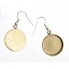 Bezel Handmade Earring Round 19x2mm Brass